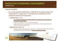 radiation screening assessment - Event and Strategy Management