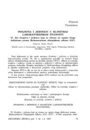 Svojstva i jedinice u kliničkoj laboratorijskoj praksi, VI dio