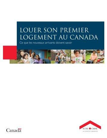 LOUER SON PREMIER LOGEMENT AU CANADA - SCHL