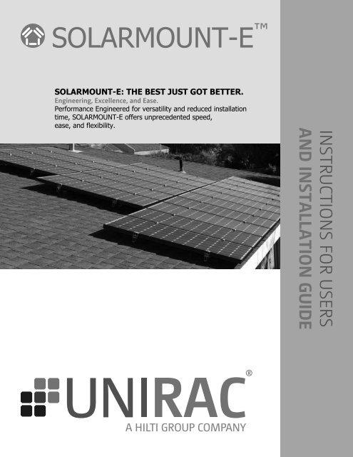 SOLARMOUNT-E Installation Guide / Manual - Unirac