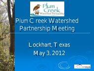AF - Plum Creek Watershed Partnership