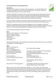 FAGUS årsmøte 2013 Årsmelding 2012 Side 1 av 5