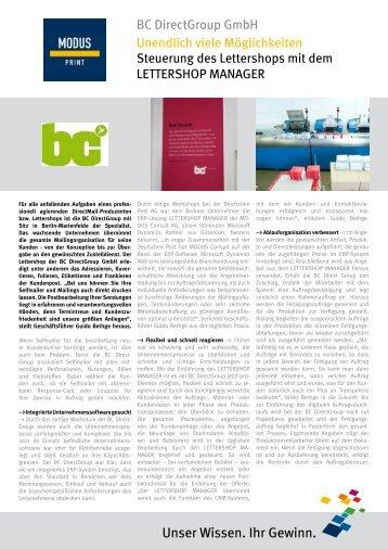 BC DirectGroup GmbH - MODUS Consult AG