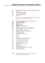 Audi Konzern Finanzen 2011 - Audi Geschäftsbericht 2012