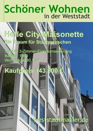 Helle City-Maisonette Helle City-Maisonette - weststadtmakler.de