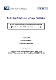 North-East Asia Forum on Trade Facilitation - Subregional Office for ...