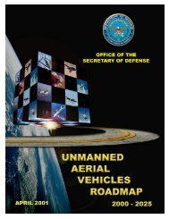 UAV Roadmap - Unmanned Aircraft & Drones
