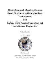 Herstellung und Charakterisierung dünner Schichten optisch ...