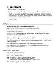 program - Urbanisztika Tanszék