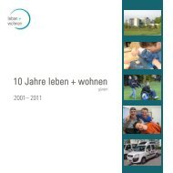 10 Jahre leben + wohnen - Leben und Wohnen - gemeinnützige ...