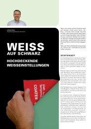 Weiss auf Schwarz - Coates Screen