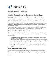 Cool Drawer (Maxtek) Sensor Head vs Temescal Sensor ... - INFICON