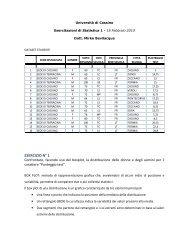 Boxplot, indici di forma, indice chi-quadro.