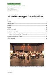 Michael Emmenegger: Curriculum Vitae