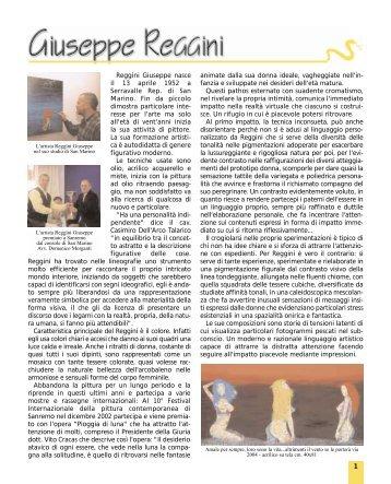 Recensione di Giuseppe Reggini - Sanremo Arte 2000