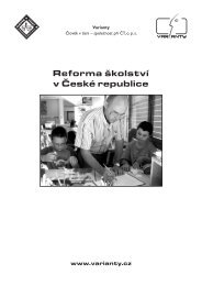 Reforma školství v České republice - Člověk v tísni