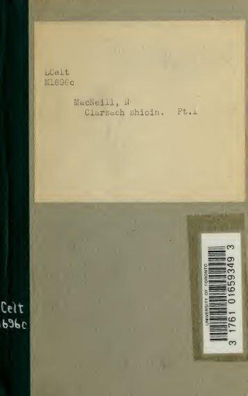 Clarsach shioin; the Highland hymnal - Scholars Portal