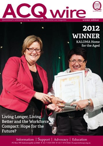 WINNER - Leading Age Services Australia - Queensland is the peak ...