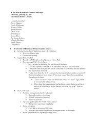 Meeting Notes - January 10, 2011 - University of Kentucky