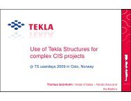 Use of Tekla Structures for complex CIS projects - BA-Nettverket