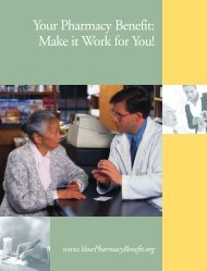 Make it Work for You! - YourPharmacyBenefit.org
