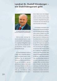 20 Landrat Dr. Rudolf Hinsberger – ein Stabilitätsgarant ... - Sparkasse