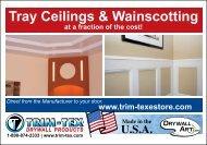 Tray Ceilings & Wainscotting - Trim-Tex