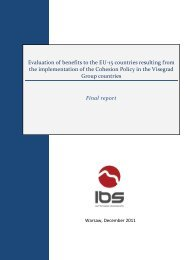 Evaluation of benefits to the EU-15 countries resulting from the ...