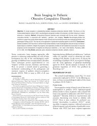 Brain Imaging in Pediatric Obsessive-Compulsive Disorder