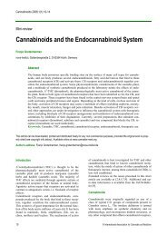 Cannabinoids and the Endocannabinoid System - International ...