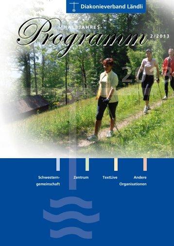 Halbjahresprogramm 2/2013 - Zentrum Ländli