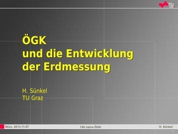 Vortrag: Univ. Prof. Dr. Hans Sünkel - ÖGK Österreichische ...