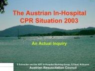 CPR Situation in Österreich - Austrian Resuscitation Council