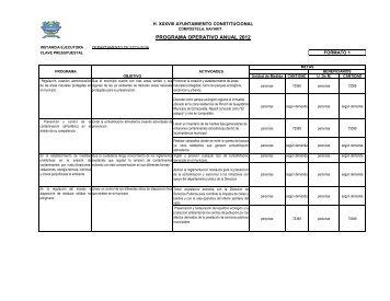 PROGRAMA OPERATIVO ANUAL 2012 - e-compostela.gob.mx