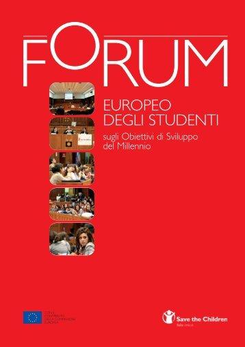 Forum Europeo degli Studenti sugli Obiettivi di Sviluppo del Millennio