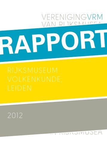 Download het rapport als pdf - Museum Volkenkunde