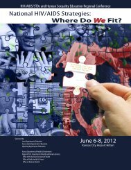 HIV/AIDS/STDS and Human Sexuality Education Regional