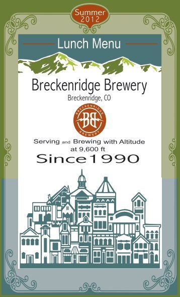 Lunch Menu - Breckenridge Brewery