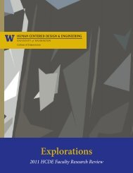 2011 Explorations - Human Centered Design & Engineering