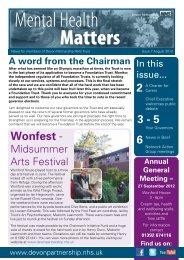 Wonfest - - Devon Partnership NHS Trust