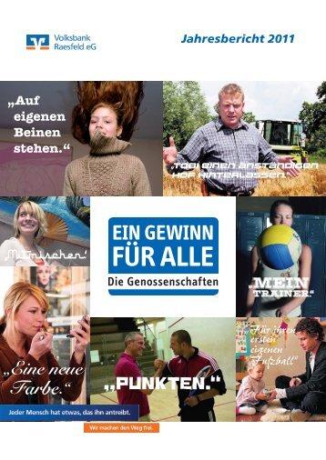 Jahresbericht 2011 - Volksbank Raesfeld eG