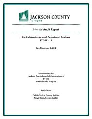 Internal Audit Report - Jackson County Oregon