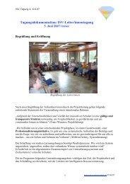 Tagungsdoku 5. Juni 2007 - Innovative Schulen im Verbund