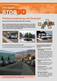 Flächenmarkierung mit Granulat - Signal AG