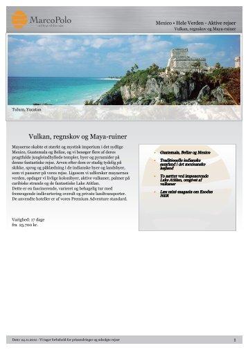 Vulkan, regnskov og Maya-ruiner - MarcoPolo