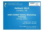 IHST/EHEST Safety Workshop Training