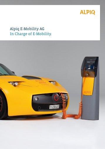 Alpiq E-Mobility SA: brochure PDF - Alpiq InTec
