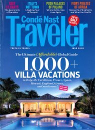 Condé Nast Traveler - McLaughlin Anderson Luxury Villas