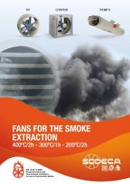FANS FOR THE SMOKE EXTRACTION - Sodeca