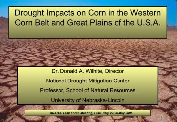 Drought Impacts on Corn in the Western Corn Belt and Great Plains ...